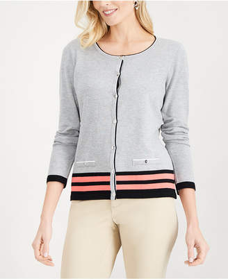 Karen Scott Tipped Cardigan Sweater