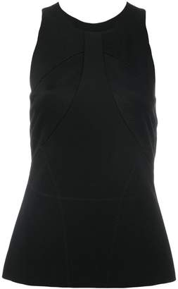 Versace satin-panelled crepe top