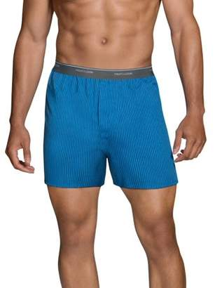 Fruit of the Loom Big Men's Dual Defense Exposed Waistband Boxers, Extended Sizes, 4 Pack