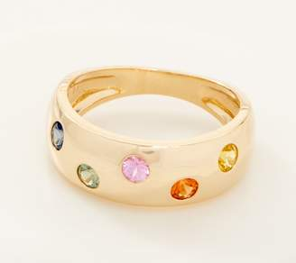 Multi-Colored Sapphire Band Ring, 0.60 cttw, 14K Gold
