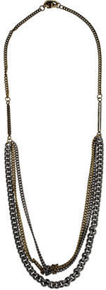 Giles & Brother Crystal Two-Tone Multistrand Necklace $95 thestylecure.com