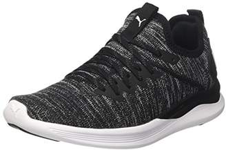 Puma Women's Ignite Flash Evoknit WN's Cross Trainers, Black-Asphalt White