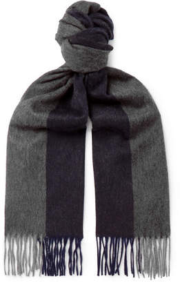 Co Begg & Arran Fringed Two-Tone Cashmere Scarf