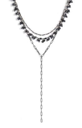 ela rae Layered Lariat Necklace