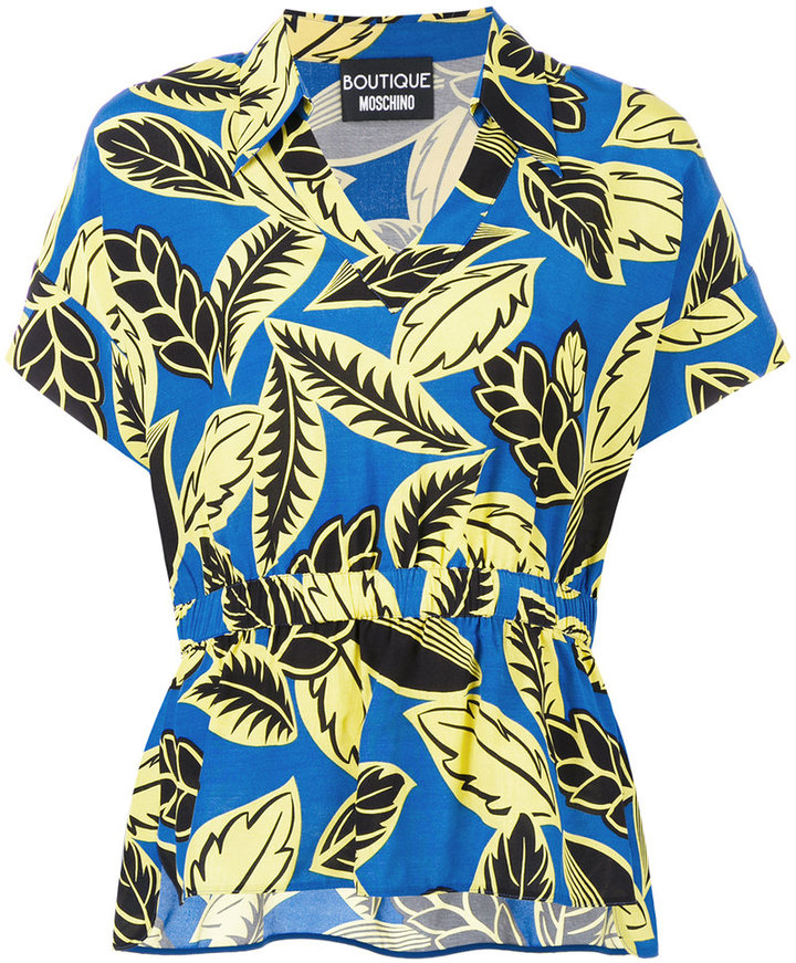Moschino Boutique Moschino floral print polo shirt
