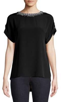 Dorothy Perkins Embellished Short Sleeve Blouse