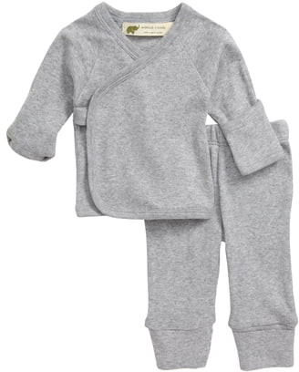 MONICA + Andy Hello Baby Organic Cotton Wrap Top & Leggings Set