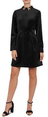 Ted Baker Alava Embellished Velvet Dress