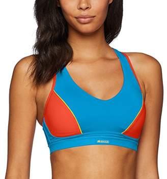 a2f7991f3b0 Shock Absorber Women's Active Sports Padded Shape Bra, Multicolour (Bleu  Profond/Grenadine 097