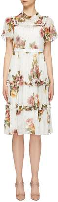 Needle & Thread 'Venetian Lurex' embellished floral print tiered dress