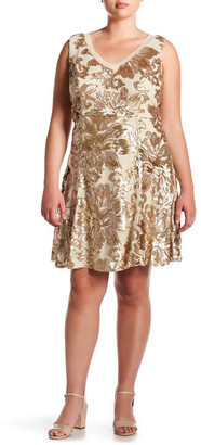 Marina Sleeveless Sequin Detail A Line Dress (Plus Size) $209 thestylecure.com