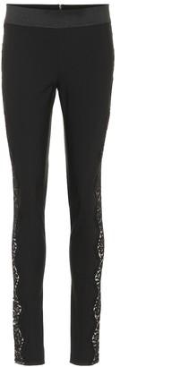 Stella McCartney Lace-trimmed skinny pants