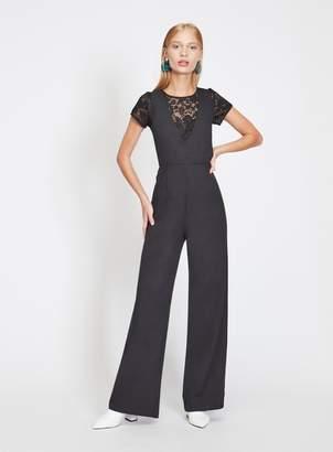 0edd67a581 Miss Selfridge Black 2-In-1 Lace Jumpsuit