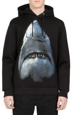 Givenchy Shark-Print Neoprene Hoodie $1,350 thestylecure.com