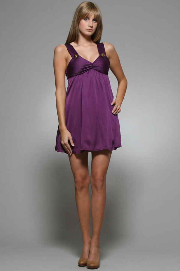Tricia Fix Kirsten Mini Dress in Purple