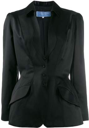 Thierry Mugler Pre-Owned 1990's plunge neck fitted blazer