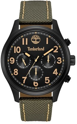 Timberland 'Rollins' Multifunction Nylon Strap Watch, 54Mm $199 thestylecure.com