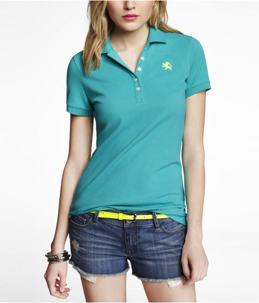 Express Embroidered Small Lion Pique Polo