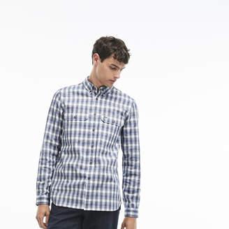 Lacoste (ラコステ) - コットンチェックシャツ (長袖)