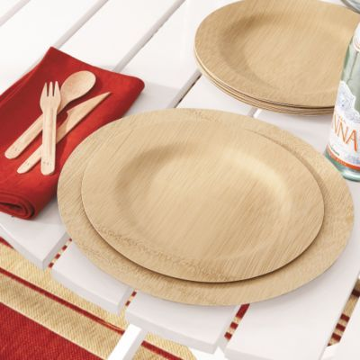 Set of 8 Bamboo Dinner Plates