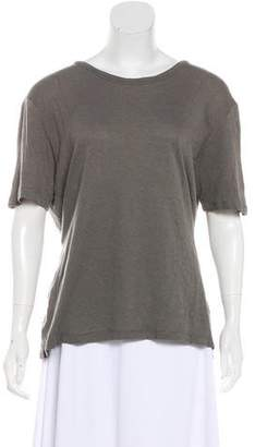 Alexander Wang Scoop Neck Short Sleeve Top