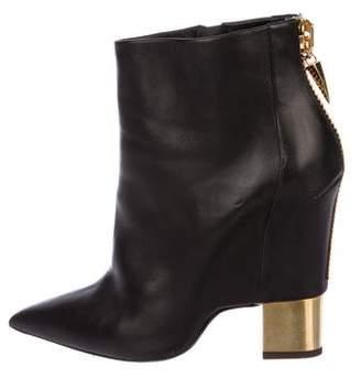 Giuseppe Zanotti Leather Pointed-Toe Boots