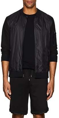 Barneys New York Men's Tech-Crepe Bomber Jacket