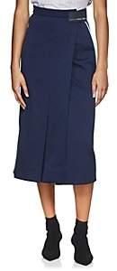 Prada Women's Logo Tech-Jersey Skirt-Blue