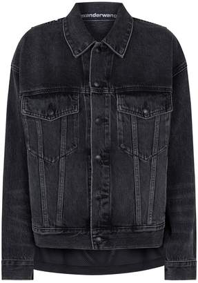 Alexander Wang Mesh Vest Denim Jacket