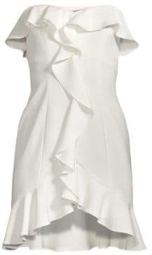 LIKELY Chriselle Strapless Ruffle Dress