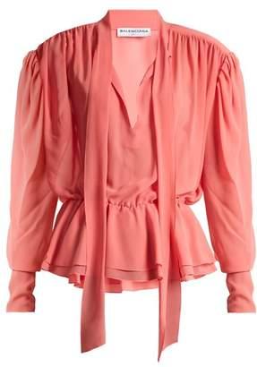 Balenciaga Lavalliere Blouse - Womens - Pink