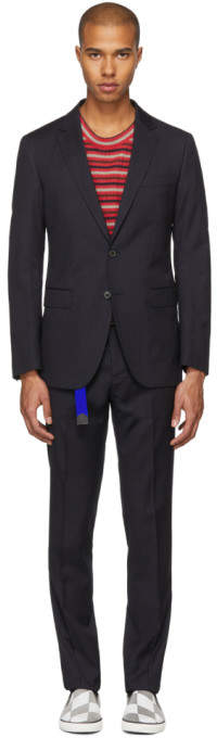 Navy Pinstripe D8 Attitude Suit