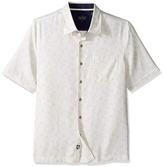 Nat Nast Men's Conversational Print Traditional Fit Silk Blend Shirt