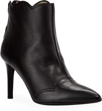 Bruno Magli Scalloped Collar Leather Booties
