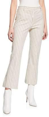 Derek Lam 10 Crosby Striped Flare-Leg Cropped Trousers