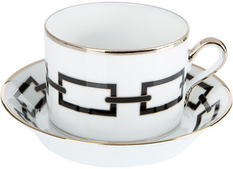 Richard Ginori 1735 - Catene Teacup & Saucer - Nero