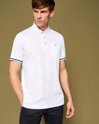Ted Baker PUGGLE Stripe cuff cotton polo shirt