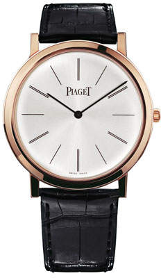 Piaget Altiplano 18K Rose Gold Watch with Alligator Strap