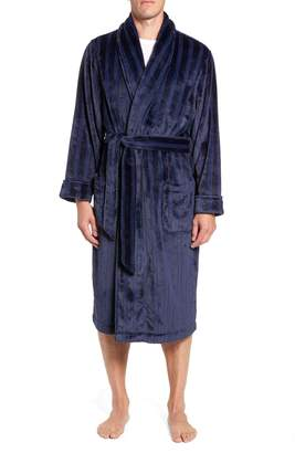 Nordstrom Vertical Stripe Fleece Robe