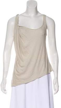 Donna Karan Linen Sleeveless Top
