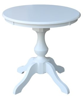 """INC International Concepts 30"""" Round Top Pedestal Dining Table - White"""
