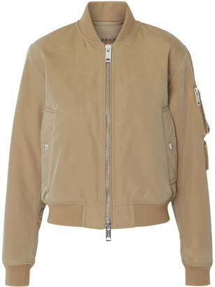 Burberry Union Jack Motif Nylon Bomber Jacket