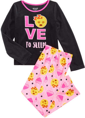 Emoji Big Girls 2-Pc. Pajama Set