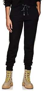 Palm Angels Women's Floral-Logo Cotton Fleece Sweatpants-Black