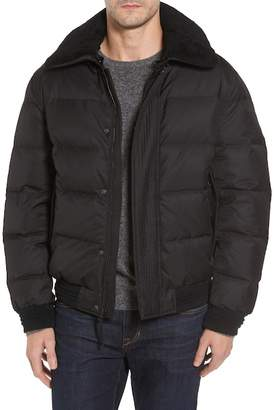 Andrew Marc Pinnacle Quilted Down Jacket w/ Genuine Shearling Collar
