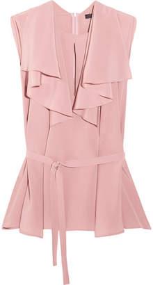 Etro - Ruffled Silk Crepe De Chine Blouse - Pink $710 thestylecure.com