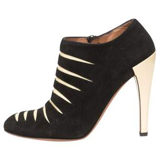Alaia Black Suede Ankle boots