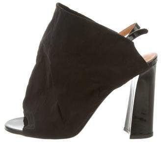 Acne Studios Slingback Strap Peep-Toe Sandals