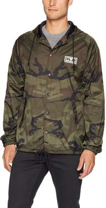 Obey Men's No One Coaches Jacket