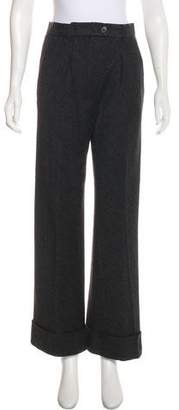 Nina Ricci Wool-Blend High-Rise Pants